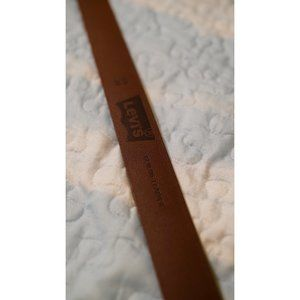 Levi's Unisex Brown Leather Belt
